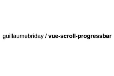 Vue-scroll-progressbar