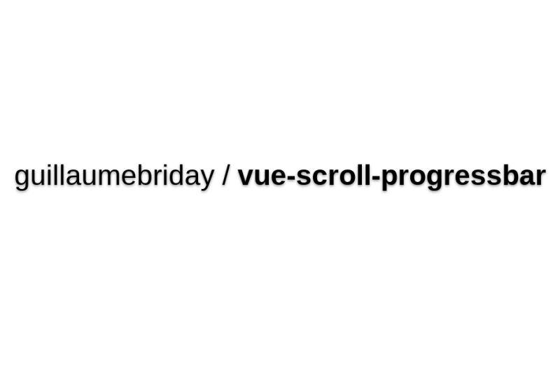 Vue-scroll-progressbar