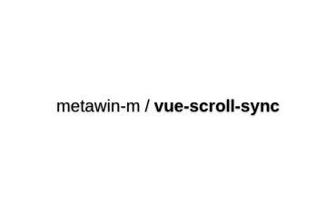 Vue-scroll-sync