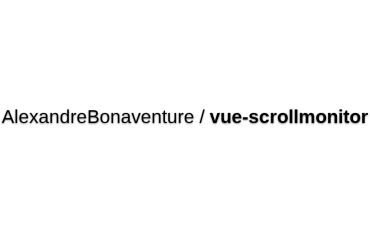 Vue-scrollmonitor