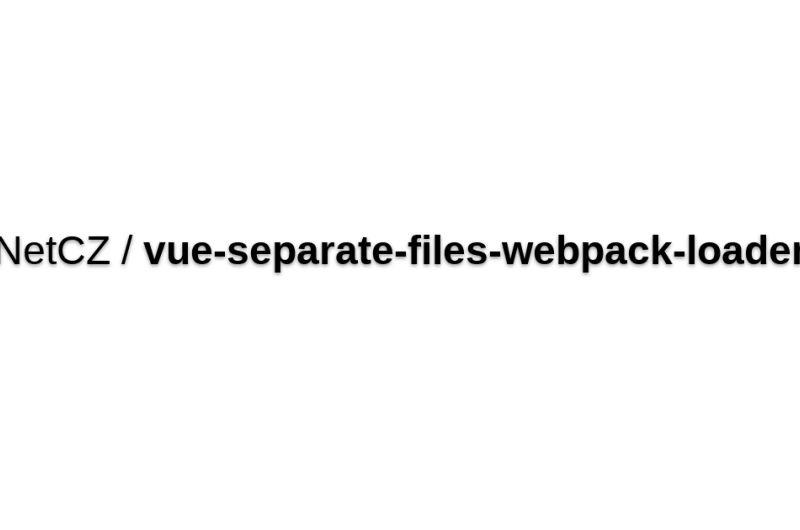 Vue-separate-files-webpack-loader
