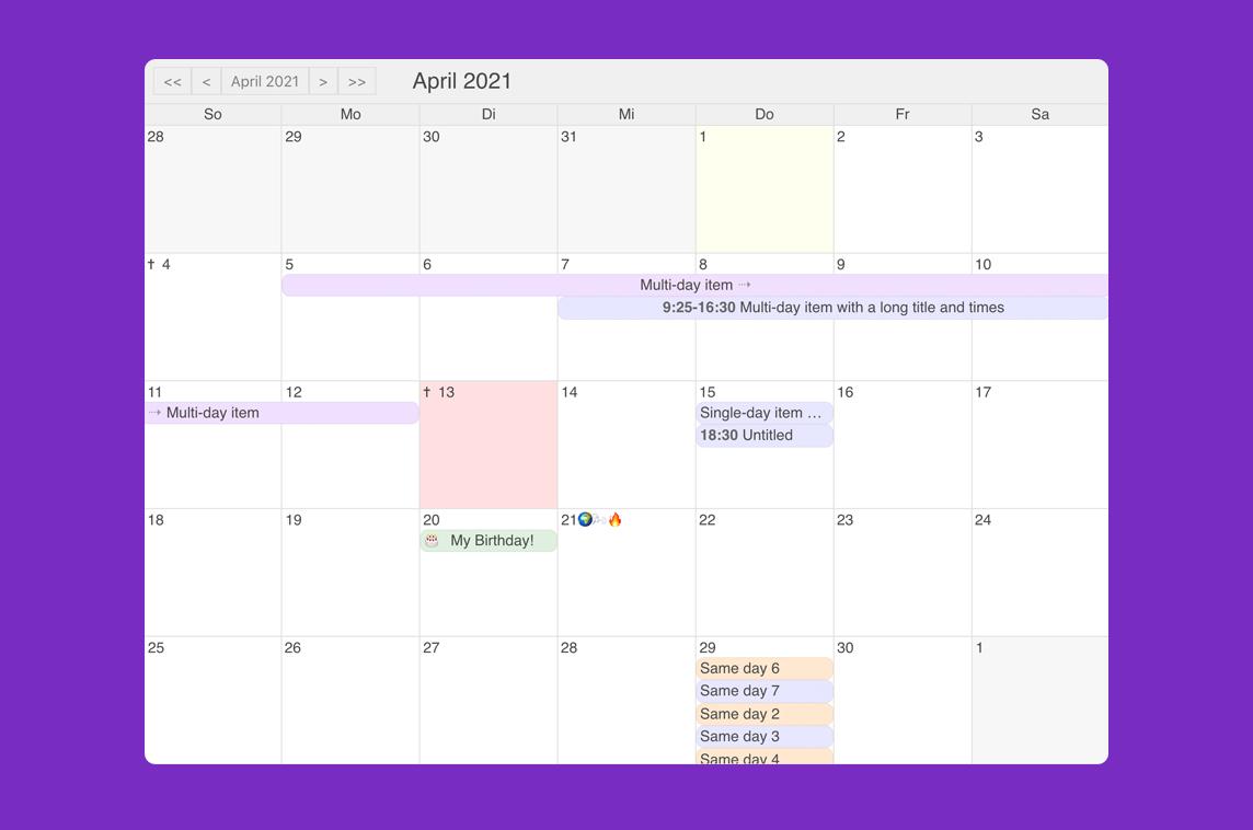 Vue Simple Calendar