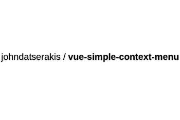 Vue-simple-context-menu