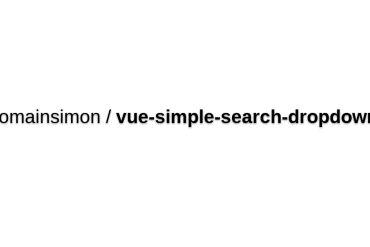 Vue-simple-search-dropdown