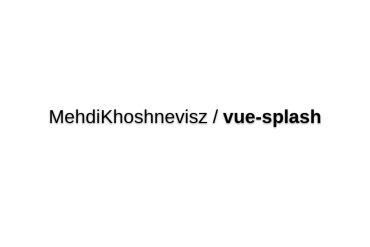 Vue-splash