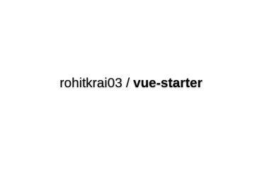 Vue-starter