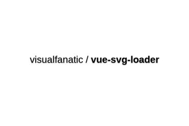 Vue-svg-loader