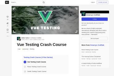 Vue Testing Crash Course