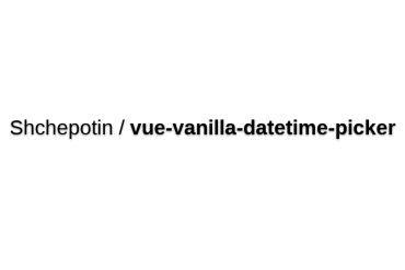 Vue-vanilla-datetime-picker