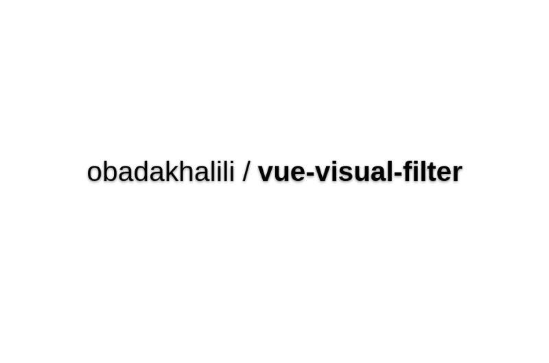 Vue-visual-filter