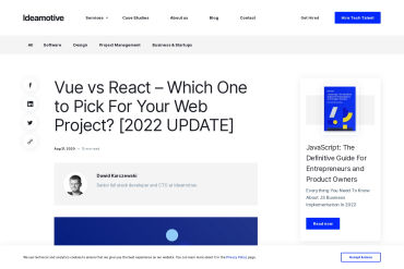 Vue Vs. React – Which Should You Pick For Your Next Web Project?
