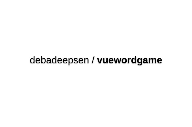 Vue Word Game