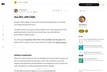Vue2 ACL Using CASL