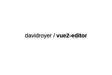 Vue2-Editor
