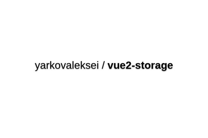 Vue2-storage