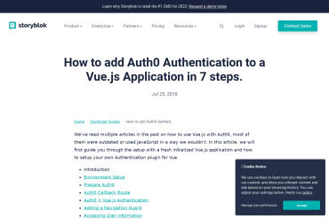 Vuejs 2.5+ Authentication Tutorial Using Auth0