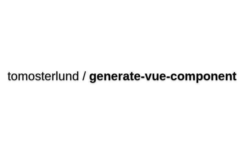 Vuejs-generate