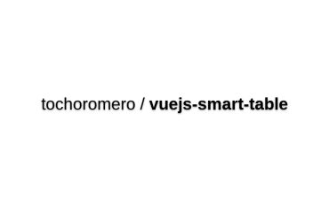 Vuejs-smart-table