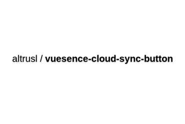 Vuesence-cloud-sync-button