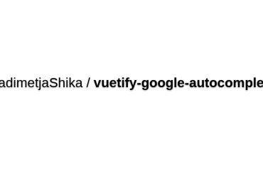 Vuetify-google-autocomplete