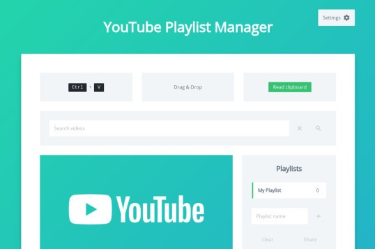 Youtube Playlist Manager